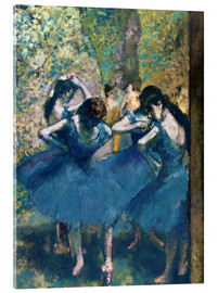 Acrylic print  The Blue Dancers - Edgar Degas