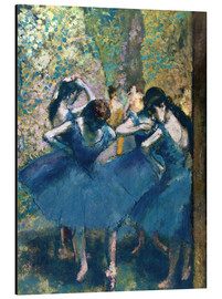 Aluminium print  The Blue Dancers - Edgar Degas