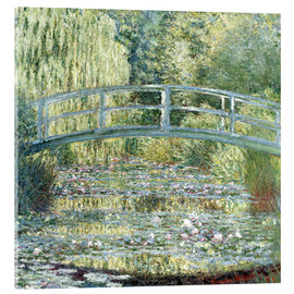 Acrylic print  water lily pond symphony in green - Claude Monet