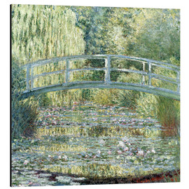 Aluminium print  Water lily pond in green - Claude Monet