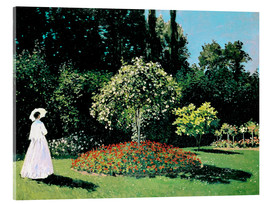 Acrylic print  Woman in a Garden - Claude Monet