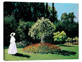 Canvas print  Woman in a Garden - Claude Monet