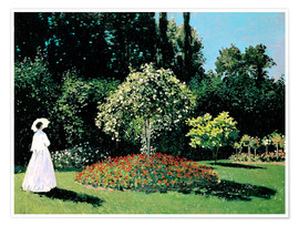 Premium poster  Woman in a Garden - Claude Monet