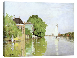 Canvas  Landscape near Zaandam - Claude Monet
