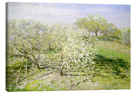 Canvas print  Flowering apple trees in spring - Claude Monet