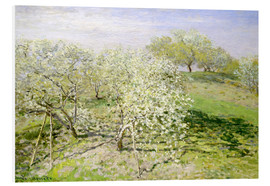 Foam board print  Flowering apple trees in spring - Claude Monet