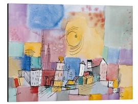 Aluminium print  German city - Paul Klee