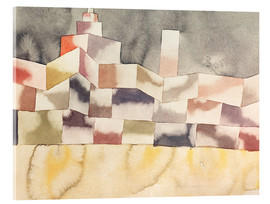 Acrylic print  Architecture in the Orient - Paul Klee