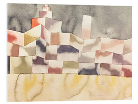Foam board print  Architecture in the Orient - Paul Klee