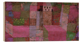 Wood print  Garden house - Paul Klee