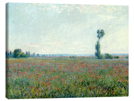 Canvas print  Field with poppies - Claude Monet