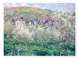 Premium poster Plum Trees in Blossom at Vetheuil