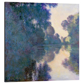 Aluminium print  Morning on the Seine - Claude Monet