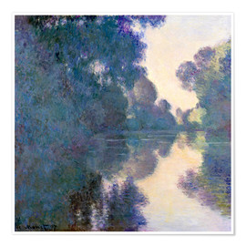 Premium poster  Morning on the Seine - Claude Monet