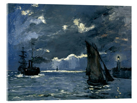 Acrylic print  Ships in Moonshine - Claude Monet
