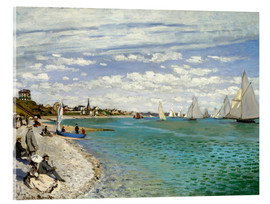 Acrylic print  Regatta at Sainte-Adresse - Claude Monet