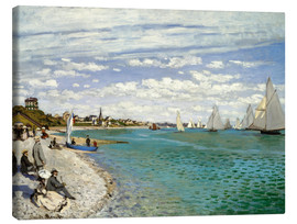 Canvas print  Regatta at Sainte-Adresse - Claude Monet