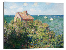 Aluminium print  Fisherman's Cottage on the Cliffs at Varengeville - Claude Monet