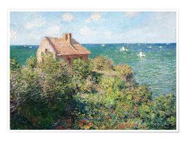 Premium poster  Fisherman's Cottage on the Cliffs at Varengeville - Claude Monet