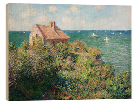 Wood print  Fisherman's Cottage on the Cliffs at Varengeville - Claude Monet
