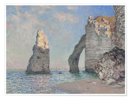 Premium poster  The Rock Face of Aval - Claude Monet