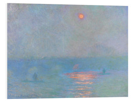 Foam board print  Waterloo Bridge - Claude Monet