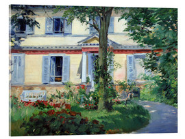 Acrylic print  Country house in Rueil - Edouard Manet
