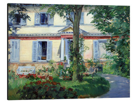 Aluminium print  Country house in Rueil - Edouard Manet