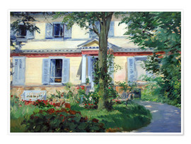 Premium poster  Country house in Rueil - Edouard Manet