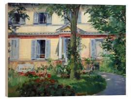Wood print  Country house in Rueil - Edouard Manet