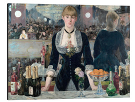Aluminium print  Bar at the Folies-Bergere - Edouard Manet