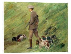 Foam board print  Hunter in the Dunes - Max Liebermann
