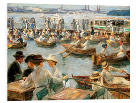 Foam board print  By the Alster River - Max Liebermann