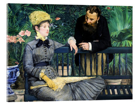 Acrylic print  In the winter garden - Edouard Manet