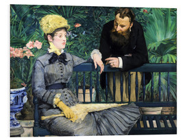 Foam board print  In the winter garden - Edouard Manet