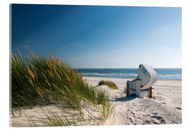 Acrylic print  Beach with dunes and beach grass - Reiner Würz RWFotoArt