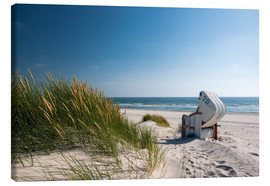 Canvas  Beach with dunes and beach grass - Reiner Würz RWFotoArt
