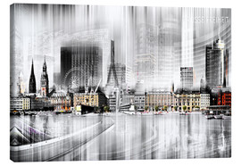 Canvas print  Hamburg Skyline, Germany - Städtecollagen