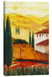 Canvas  Tuscan idyll 3 (brighter) - Christine Huwer