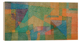 Wood print  Spring image - Paul Klee