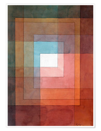 Premium poster  White framed polyphonically - Paul Klee