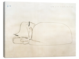 Canvas print  Slumbering cat - Paul Klee