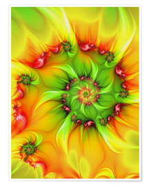 Premium poster  Fractal 'On a hot summer day' - gabiw Art