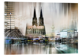 Acrylic glass  colonge germany Abstrkta Skyline - Städtecollagen