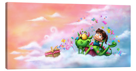 Canvas print  Butterfly picnic in the clouds - Tooshtoosh