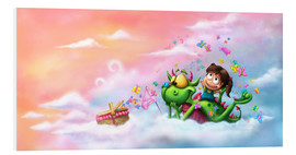 Foam board print  Butterfly picnic in the clouds - Tooshtoosh