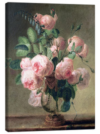 Canvas  Vase of flowers - Pierre Joseph Redouté