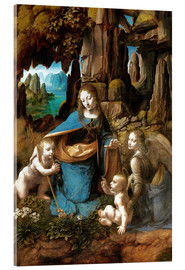 Acrylic print  The Virgin of the Rocks - Leonardo da Vinci