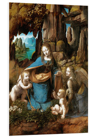 Foam board print  The Virgin of the Rocks - Leonardo da Vinci