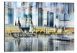 Aluminium print  Munich Germany - Städtecollagen